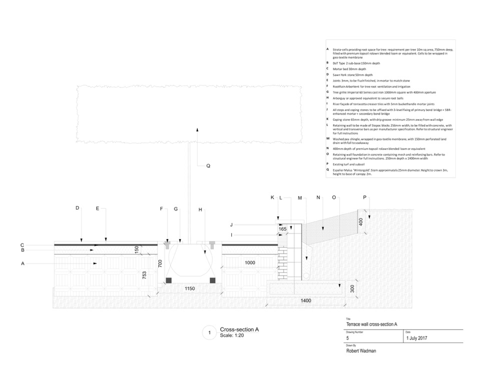 DETAILED DESIGN SPECIFICATION - Translation of the design concept into a detailed Scope of Works which can include build-ready CAD drawings, construction & planting layout plans, precise material specifications, etc.The Scope of Works document is thorough in order to get a true apples-for-apples comparison of proposals and to eliminate rough estimates. All of which is necessary to avoid nasty budget surprises once work starts.