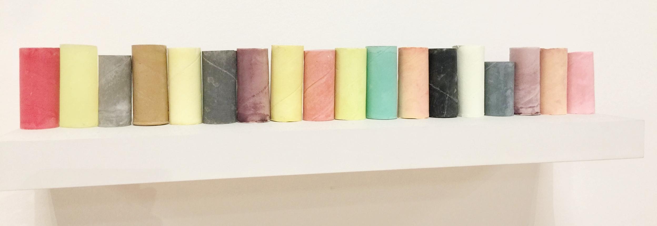 Rachel Whiteread:Coloured objects 2007-8