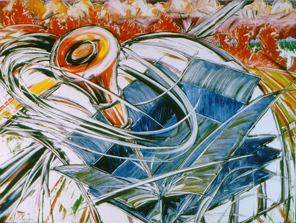 PLAINS WARNING 11, 1999   monotype 24 x 31 in.