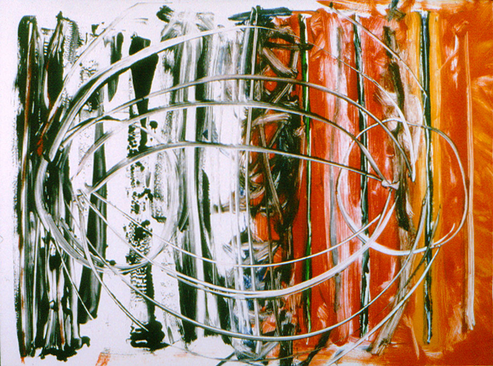 EMBEDDED MARKS 1, 1999   monotype 24 x 31 in.