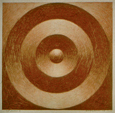 RED JANUS 1, 1999   monotype 20 x 30 in.