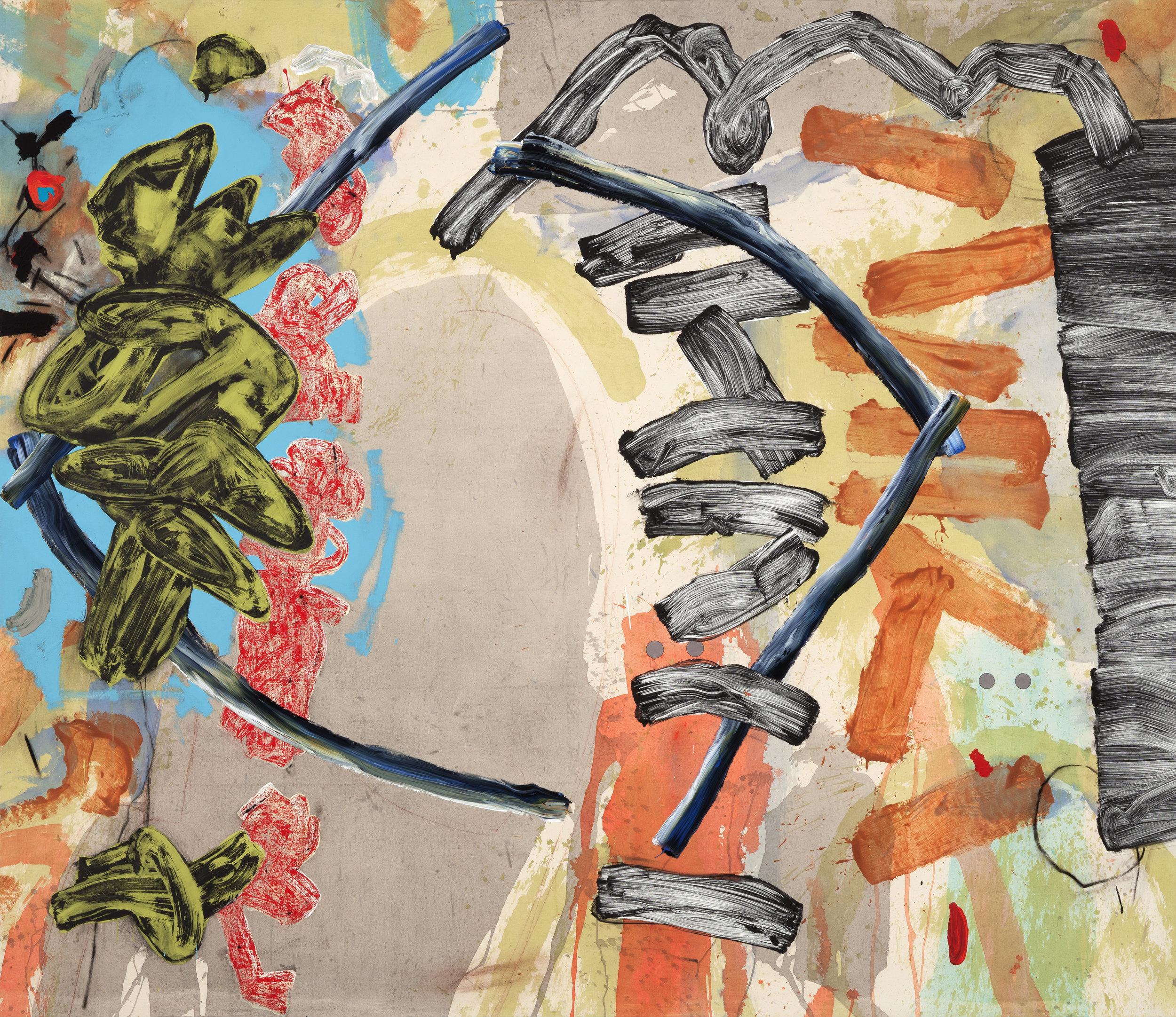 """AZTEC   mixed media on canvas  72"""" x 84"""""""