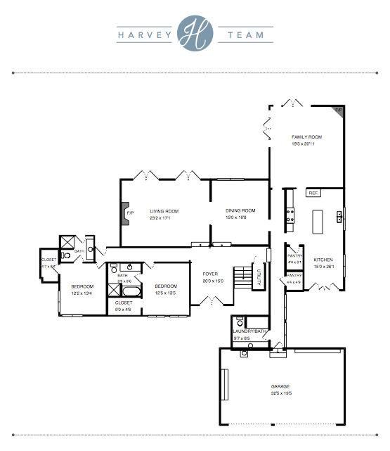 Floorplans - If your home has a unique floorplan and a special room or feature we need to point out to a buyer, we will have your home professionally drawn and scaled to show potential buyers your floorplan in print.