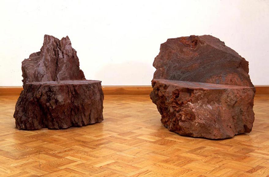 Examples of seating  Scott Burton stone seating