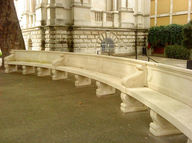Stone seating outside Tate Britain London 2010