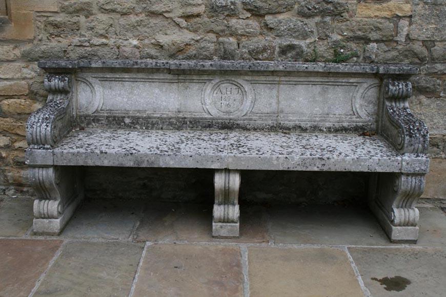 Stone seat Merton college Oxford