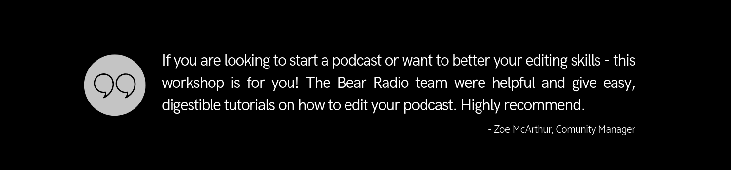 What an opportunity to learn from two fantastic podcast veterans who provided non-stop expertise, pro-tips, and of course entertainment at this weekends workshop with Bear Radio!.png