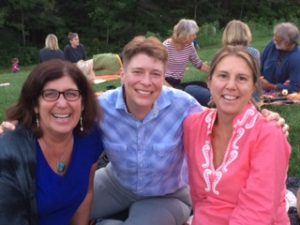 "GRTL ""Home Team"" Members — Lori Hanau, Jodi Clark and Melissa Whittemore out for Pizza Night."