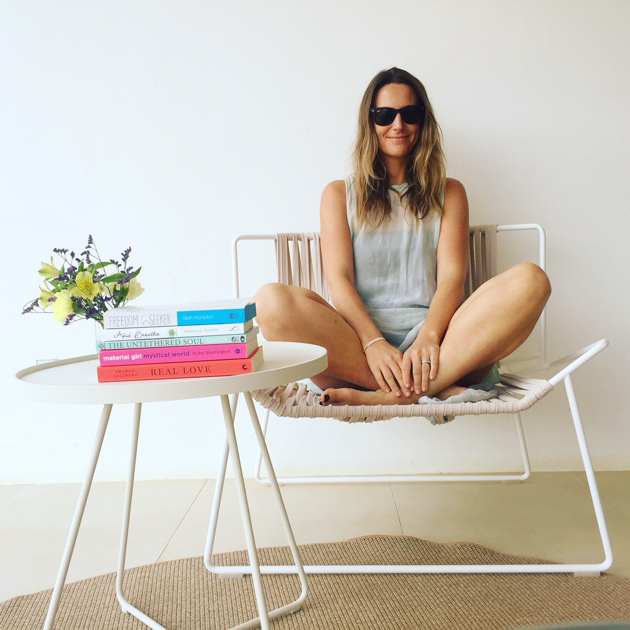 Shelf Help on tour: This week my books and I have been in Ibiza on a wellness retreat
