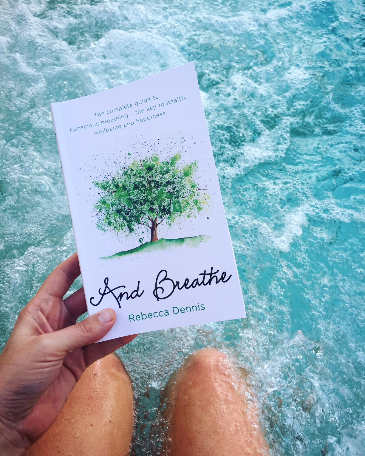 DO try this at home (or even in a hot tub): And Breathe is a guide to conscious breathing from Transformational Breath coach Rebecca Dennis