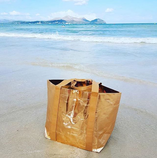 My Paper Tote: Tougher than it sounds. Looks great on the beach (or tube)