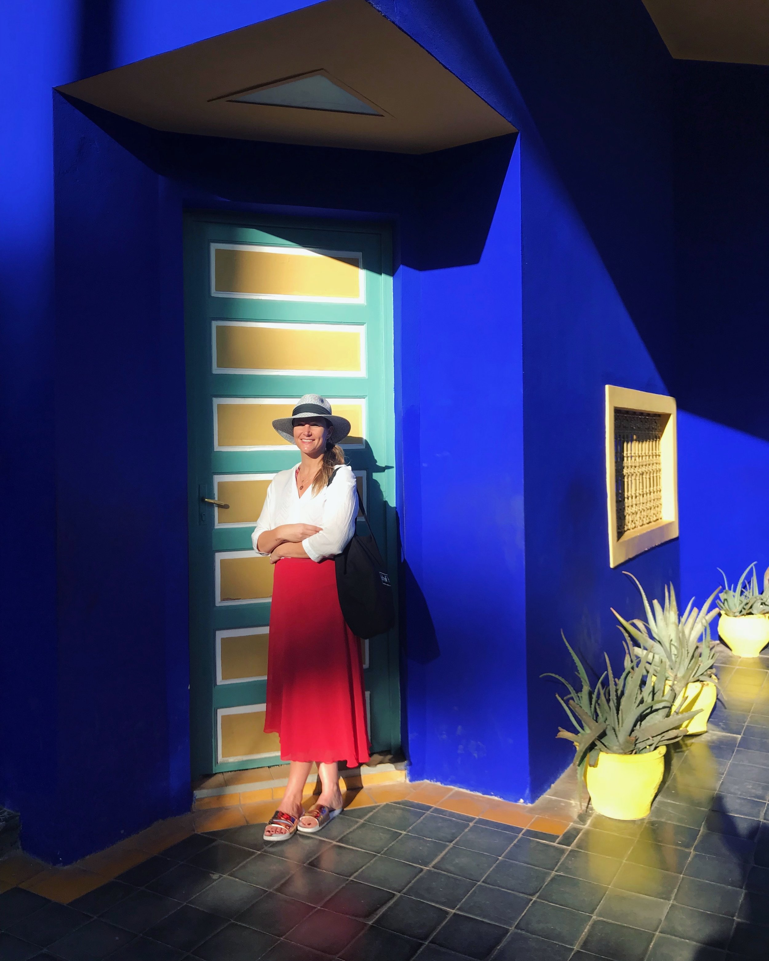 Colour popping:Life is just better in 'Majorelle blue'