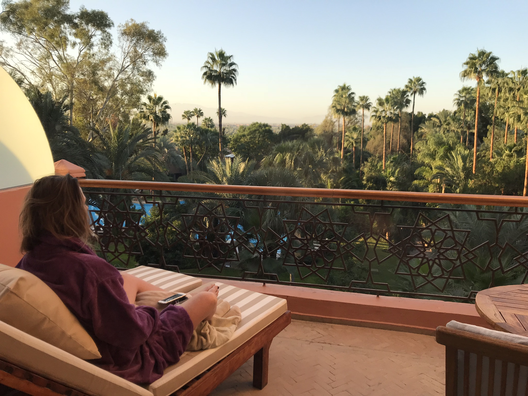 Room with a view: Morning meditation on the balcony at Es Saadi
