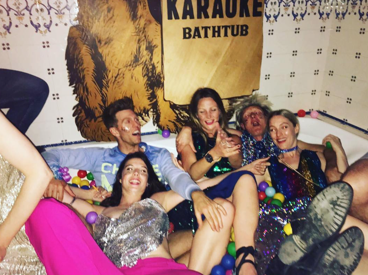 Ball pit. Karaoke. Bath tub. Best friends. Sequins. So many limbs. The most surreal and wonderful night of my life to date