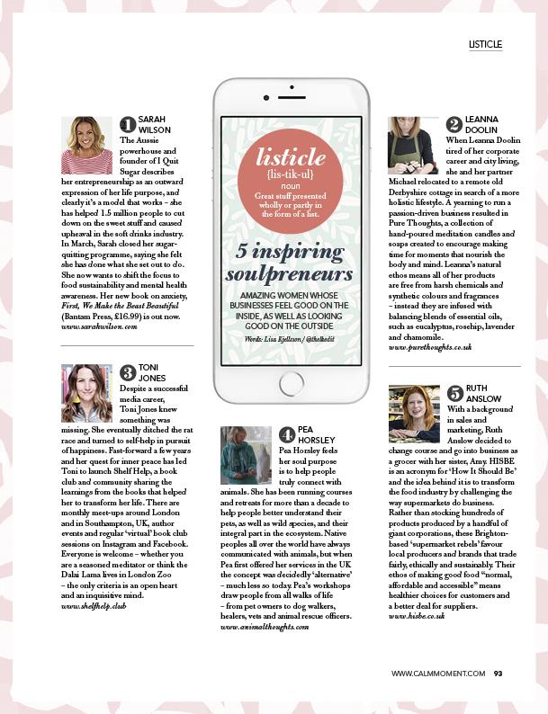 In The Moment Magazine: Inspiring Soulpreneurs