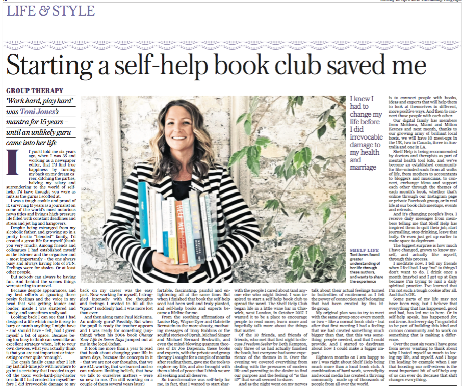 The Sunday Telegraph: Starting a Sellf-Help Book Club Saved Me