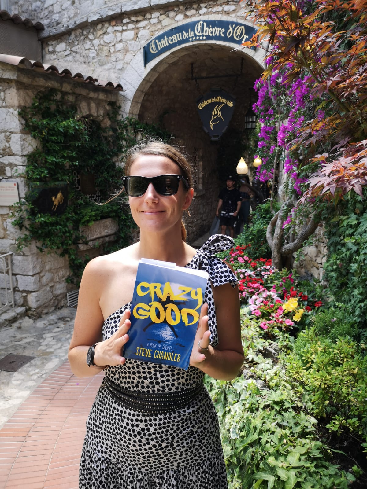 Getting inspired by Book of the Month, Crazy Good, on a crazy good work trip to the South of France