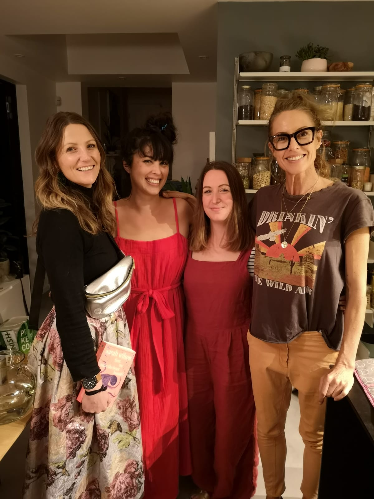 Dinner party date at Melissa Hemsley's house to celebrate the launch of Sarah Wilson's paperback here in the UK
