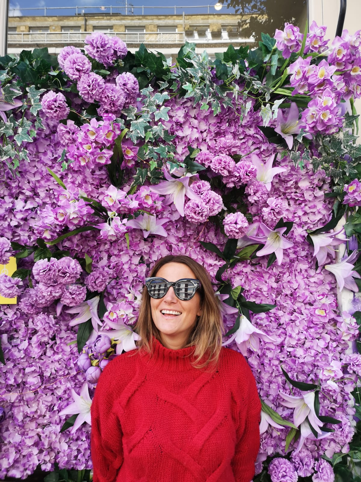 You don't need booze to have a good time, guys, just a huge flower wall…