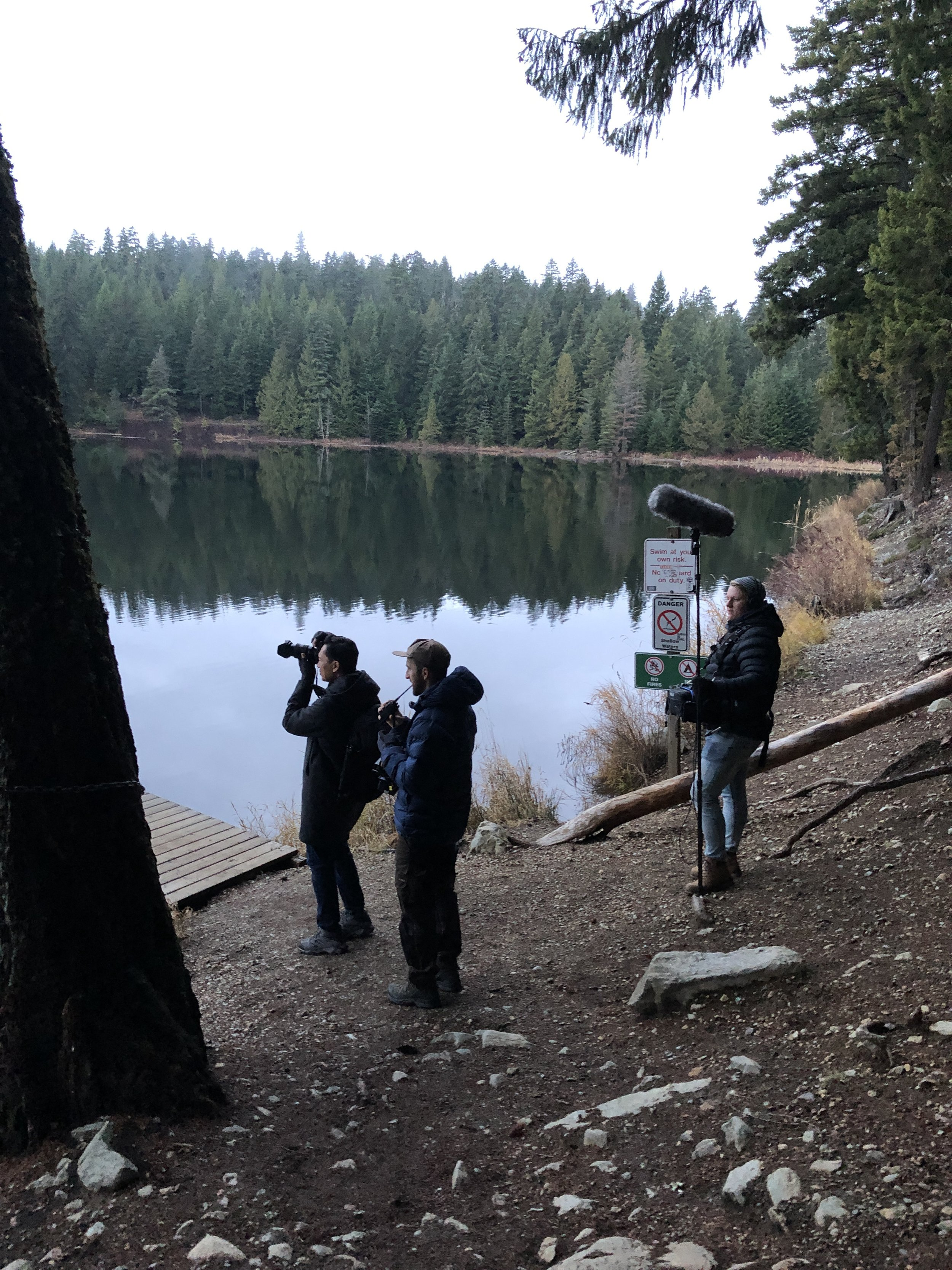 Minh captures Lost Lake whilst Adam & Johan are ready to roll.