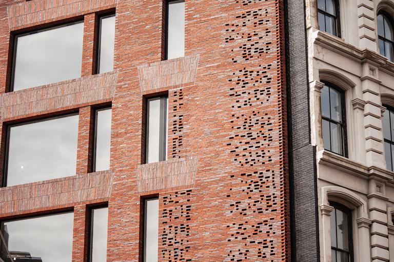 The facade of 100 Franklin