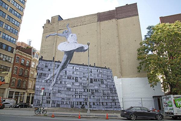 JR art installation in Tribeca. Photo: courtesy JR.