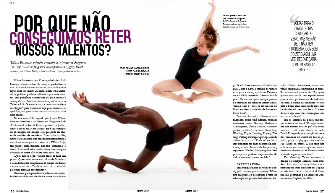 Texto:    Rejane Martins Pires    / Foto:    Rachel Neville & The Joffrey Ballet School