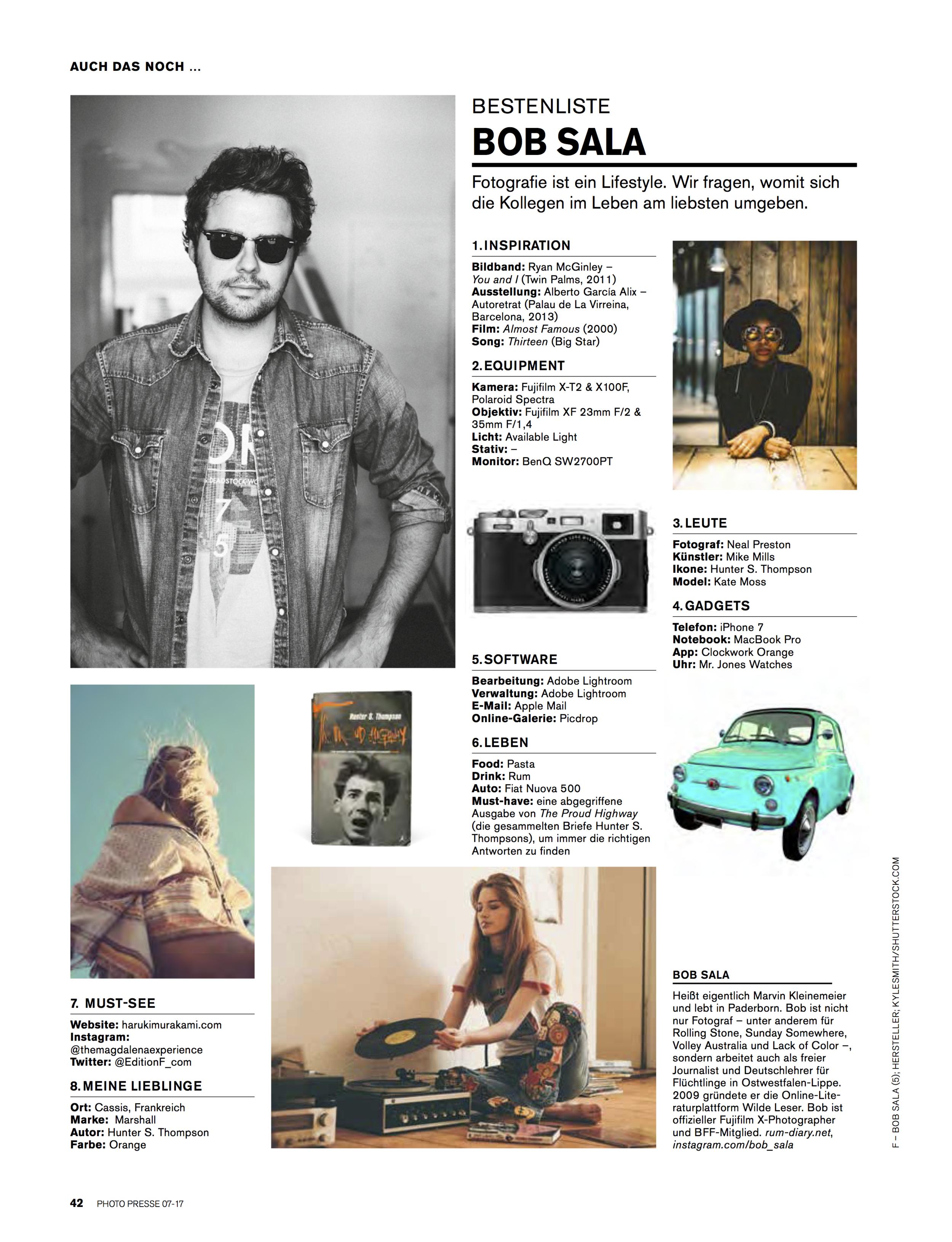 """Photo Presse """"Bestenliste"""" 03/2017"""