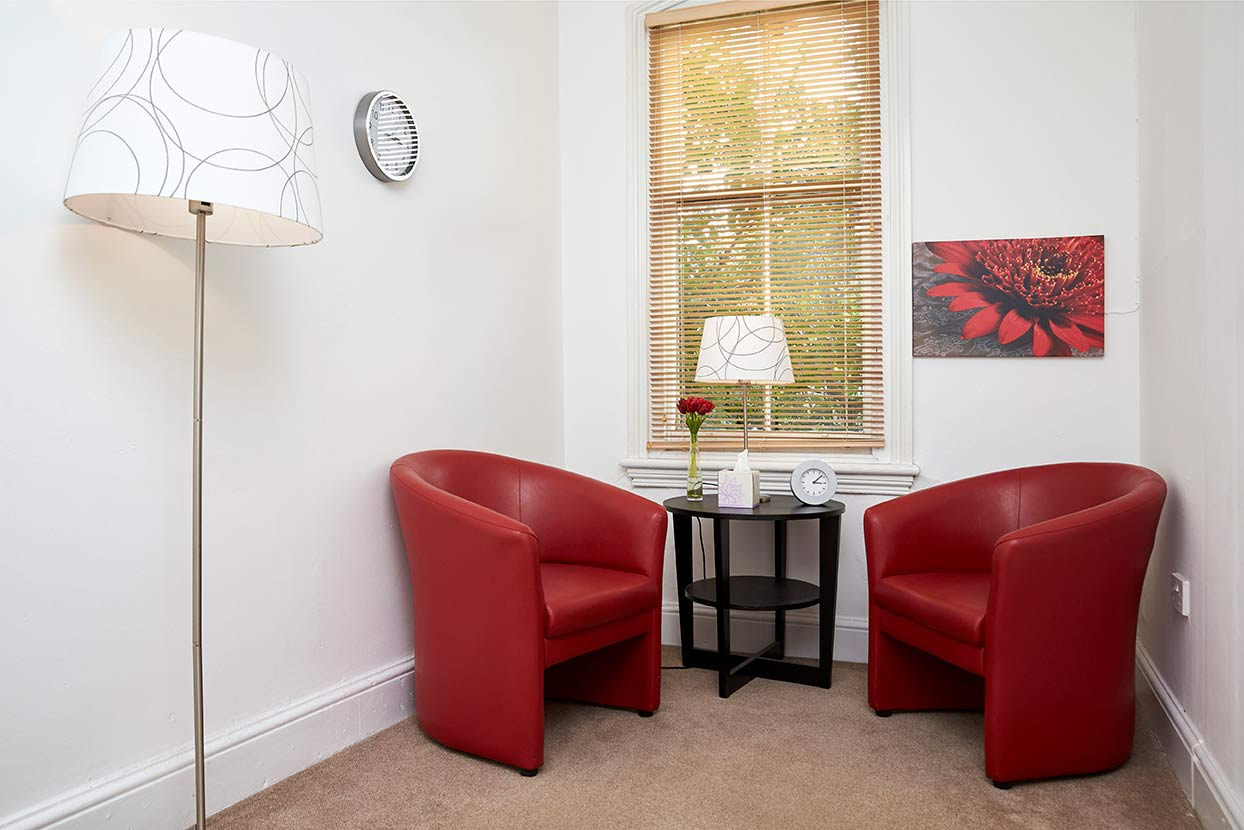 Counselling takes place in one of our welcoming counselling rooms.