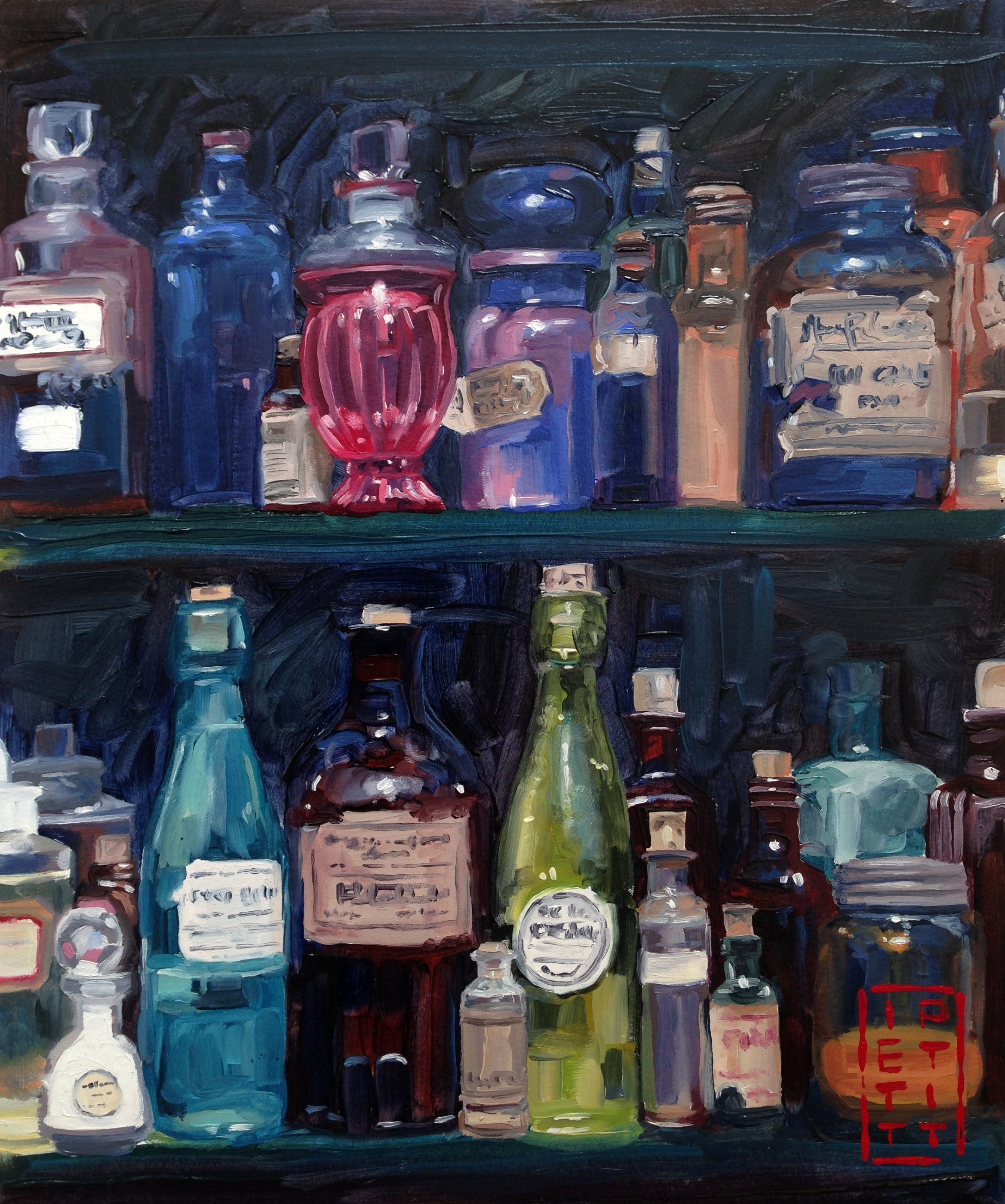 Apothecary (Oil 10 X 12 inch)