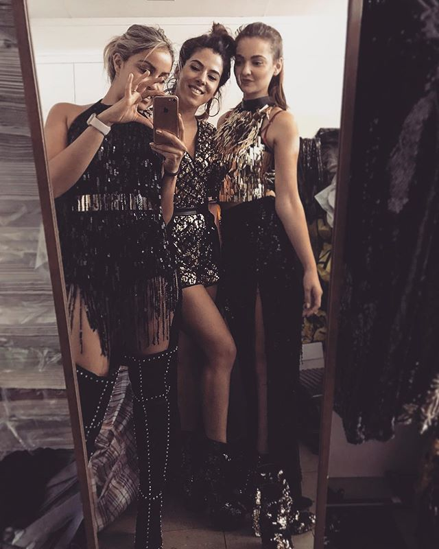 Costume shopping! Our favourite thing! 👗👠👗👠👗 #goldstone #costumes #sparkle #gold #overthekneeboots #playsuit #trio #friendships