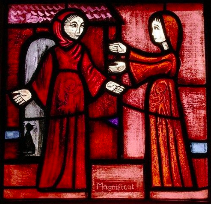 I think I said this was the annunciation... it is not. It is the Magnificat. :)