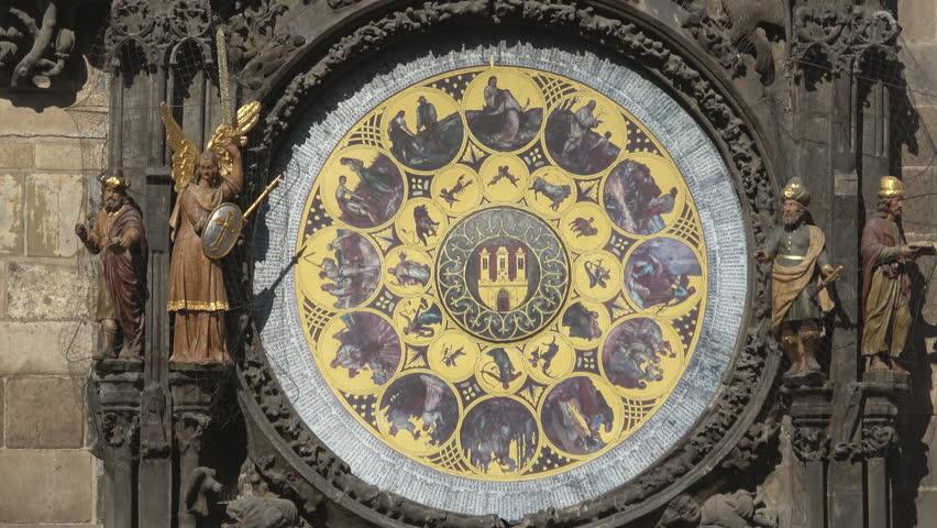 Astronomical clock:Prague, Czech Republic — including the monthly labours.