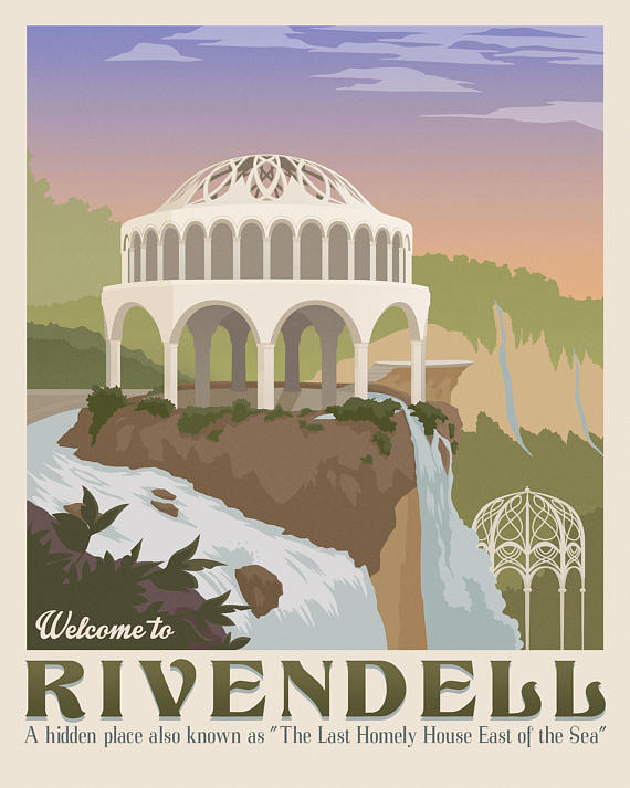 Get LOTR travel posters here:  https://www.etsy.com/listing/509723872/set-of-4-the-lord-of-the-rings-poster?ref=shop_home_active_20
