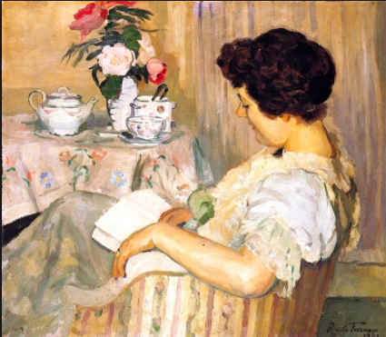 """Tea+Books - """"You can never get a cup of tea large enough or a book long enough to suit me.""""―C.S. Lewis"""