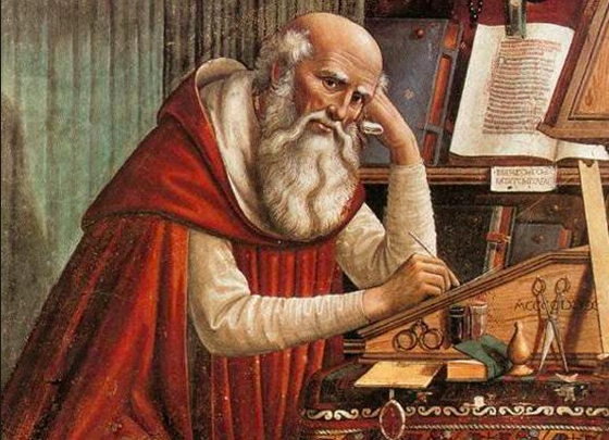 Our good pal Saint Augustine of Hippo...
