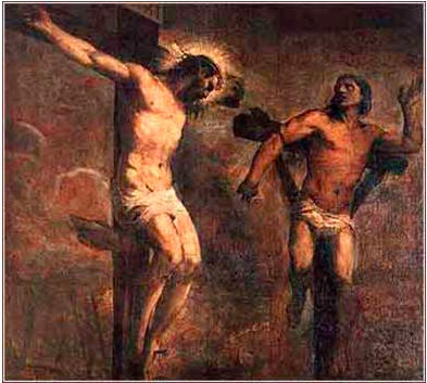 Christ and the Good Thief, Titian, c. 1566