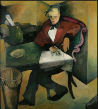 Cinik  [The Cynic], 1921. Oil on canvas. MG Zagreb.