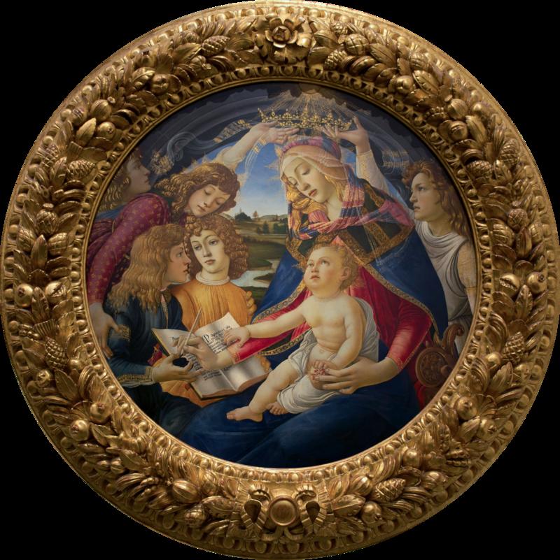 Madonna of the Magnificat, Sandro Boticelli, 1481.