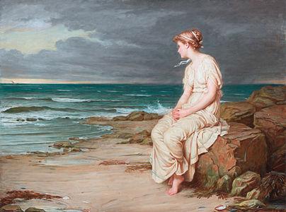 Miranda, John William Waterhouse, 1875