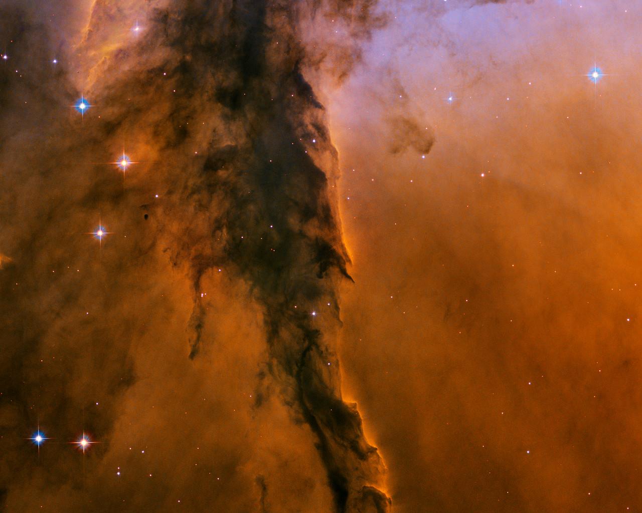 Eagle Nebula, Hubble Space Telescope.