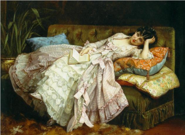 Dolce far Niente by Auguste Toulmouche, 1876.