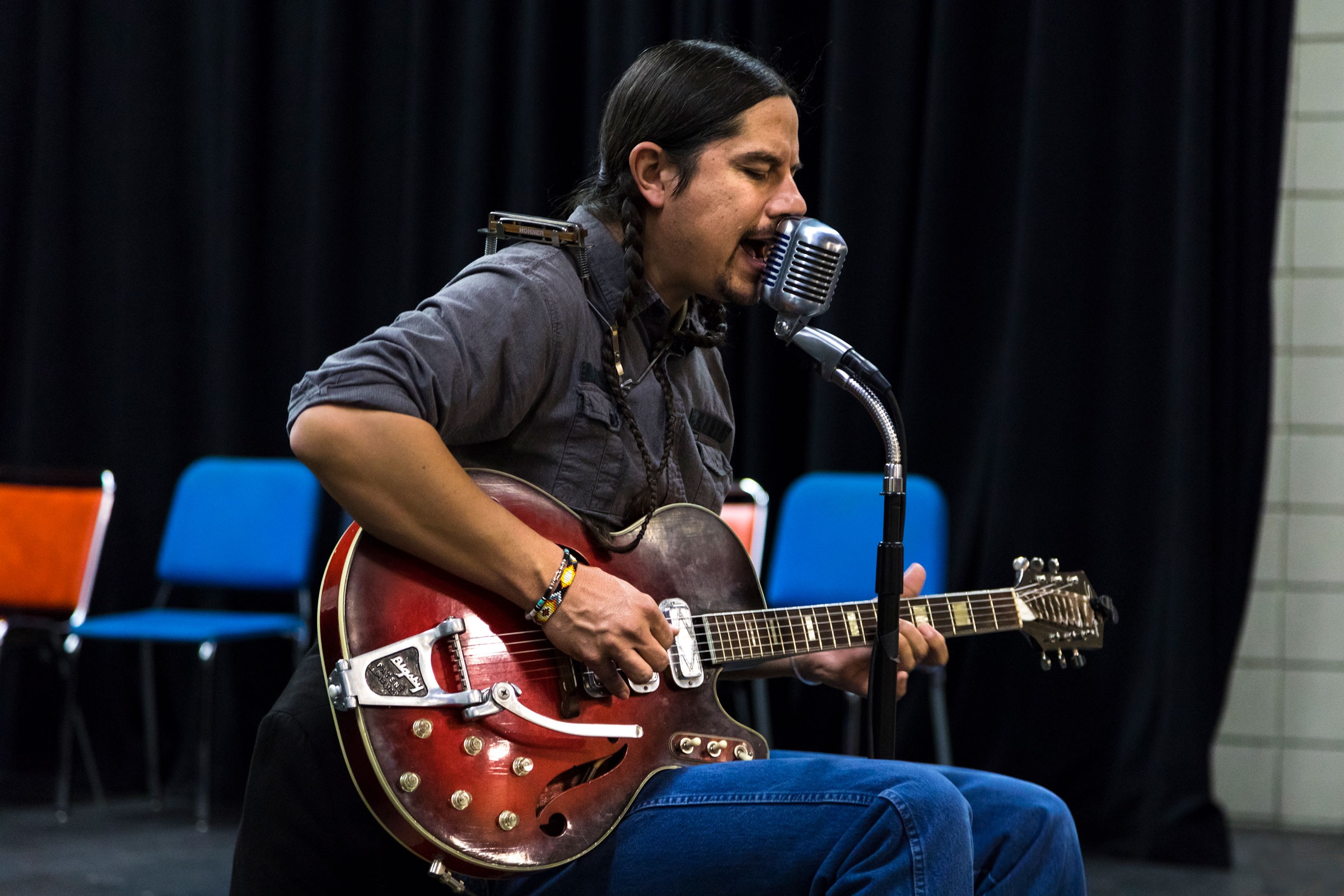 Blues In The Schools program hosted CW Ayon for a student performance