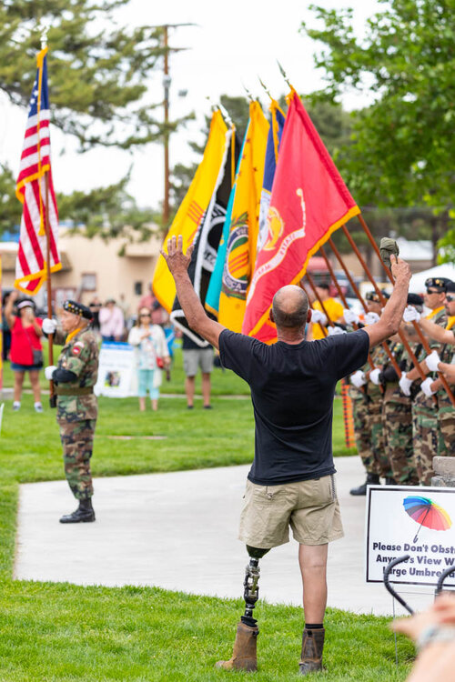 Presentation of Colors at Silver City Blues Festival