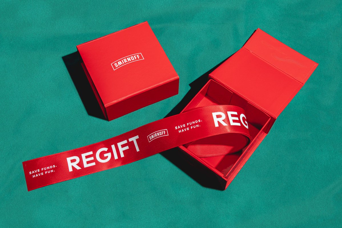 #RegiftThatThang - We made regifting even easier for the people and gave out a few rolls of regifting ribbon for our fans on social.