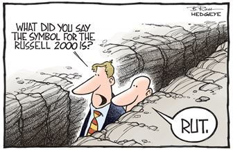 Russell 2000 or RUT Cartoon.