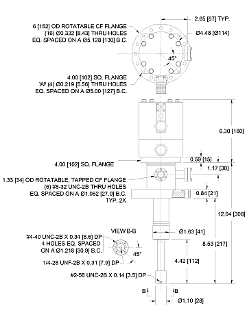 DE-202B    True UHV Instrumentation Skirt