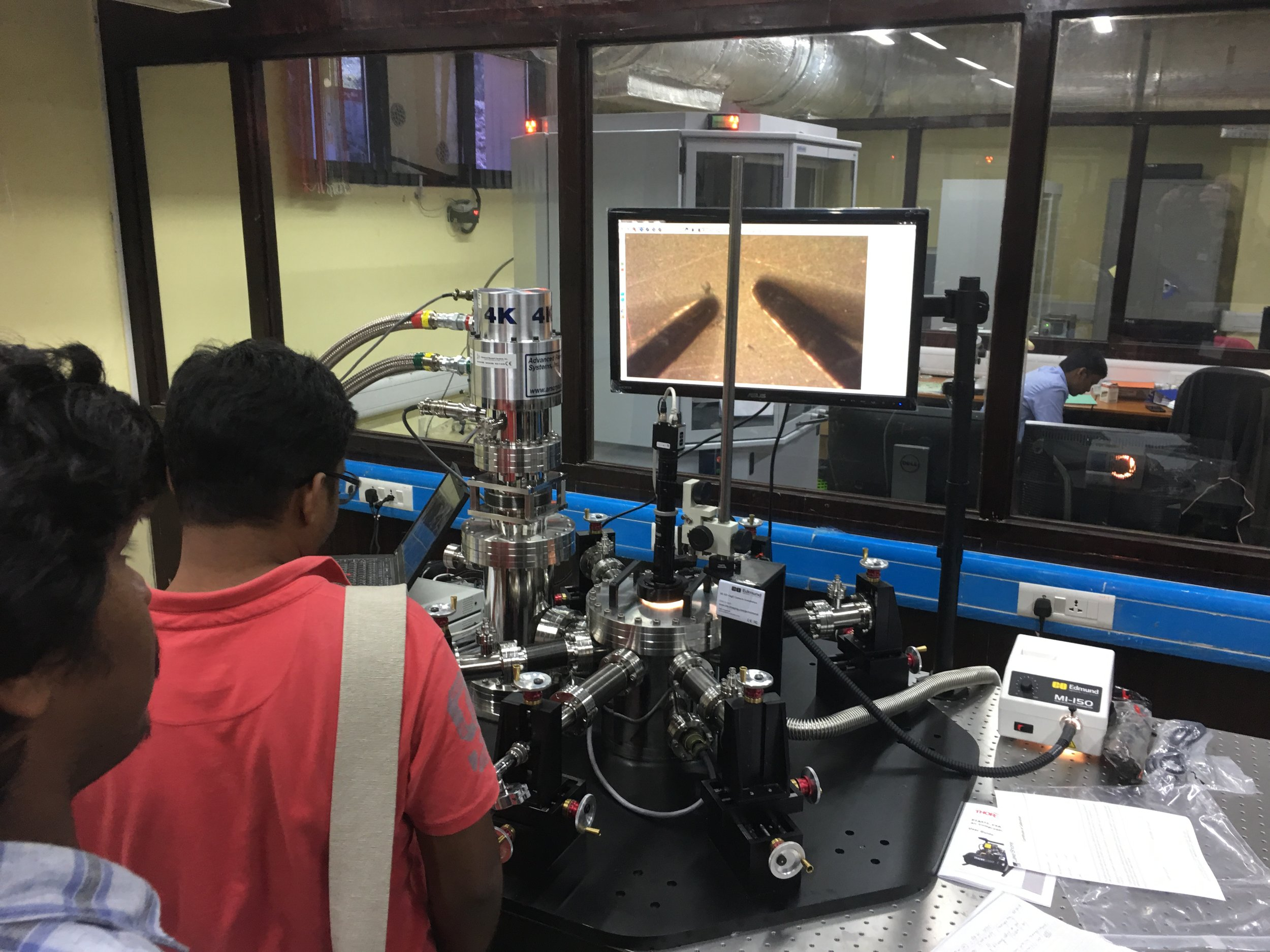 Namboothiry Group - IISER-Trivandrum-CIF: UHV Probe Station for testing Photoelectric Properties of Thin Film Samples