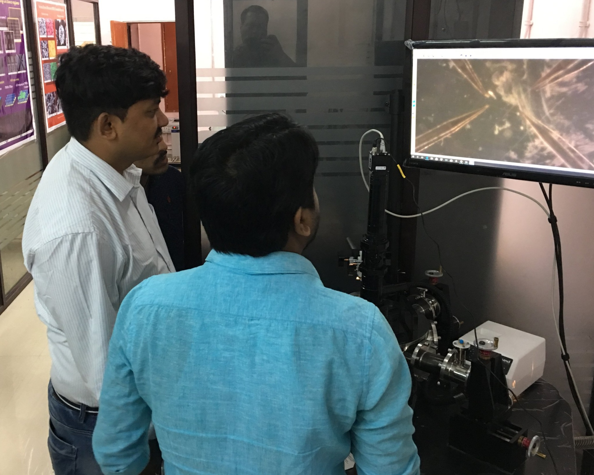 Chattopadhyay Group - Javadpur University: Probe Station for Electron Transport experiments on Nanoscale Wires and Structures