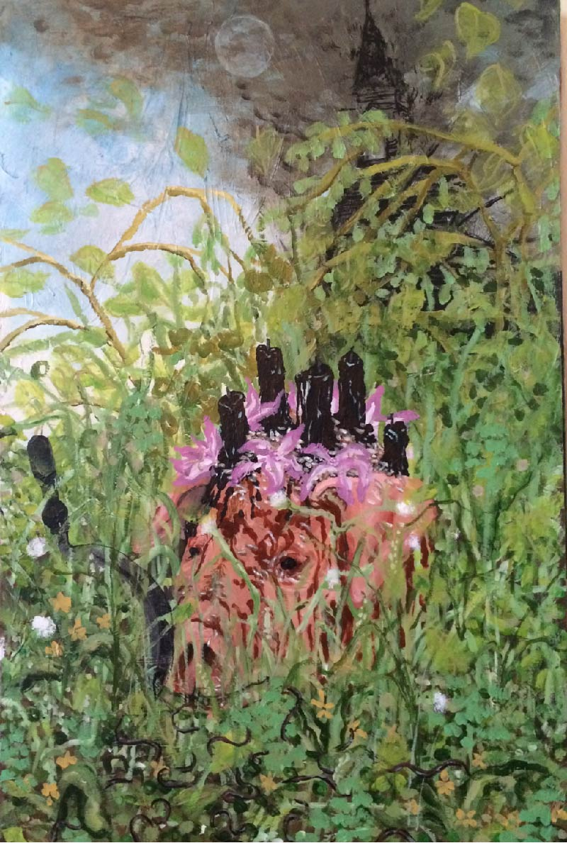 "Kingmaker , 2017, 24x36"" acrylic on canvas"